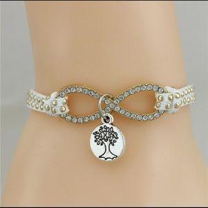 Studded Infinity Tree of Life Bracelet